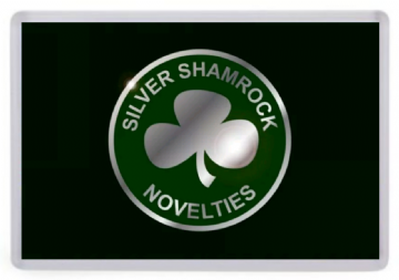 Silver Shamrock Novelties Fridge Magnet. Inspired by Halloween 3